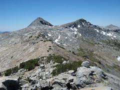 Post Peak (left) and unnamed peak, as seen from peak near Isberg Pass (kennsrempel) Tags: anseladamswilderness yosemitenationalpark postpeakmaderacountycalifornia