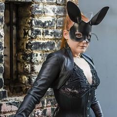 Bunny Attack (micadew) Tags: hot sexy bunny leather fetish model erotic modeling kitty bdsm redhead redlips hottie redhair bunnyears fetishmodel modgirls micadew kittydenied lockkitty