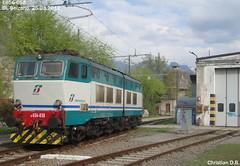 E656-058 at the DL. Bolzano (Christian D.B.) Tags: del locomotive dl linea brennero bolzano bozen deposito e656 caimano abstellbahnhof euronight94 brtennerbahn