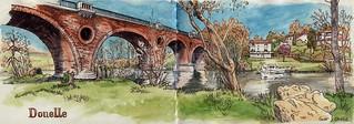Douelle, pont ferrovière