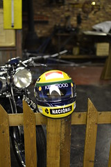 Senna Helmet 2 (Stig the Geek) Tags: helmet collection grandprix april senna 2012 doningtonpark