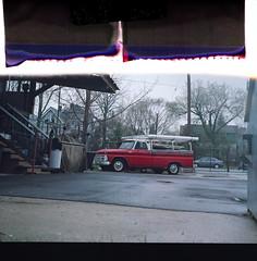 work truck (nothing is ever the same) Tags: 120 tlr film mediumformat march spring vintagecar kodak tape milwaukee vintagecamera yashica 2012 expiredfilm lastshot riverwest portra400uc yashicamat124