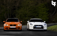 The Battle (Bas Fransen Photography) Tags: orange sport speed nissan top m piston bmw motor m3 450 v8 motorsport rollbar combo gts gtr 305 bhp kmh topspeed bmwm3 nissangtr e92 44l newbmw orangebmw tunedbmw 450bhp bmwm3gts m3gts