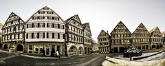 Herrenberg City Panorama 3 (Michad90) Tags: street old city houses winter people panorama germany nikon herrenberg d90