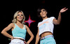 Mollie King and Frankie Sandford of The Saturdays The Girl Guides Big Gig 2012 - Performances Birmingham, England