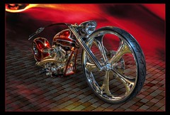 Harley Davidson Custom Chopper (color blind 56) Tags: car minnesota composite photoshop nikon harley chrome hotrod d200 tamron davidson mn hdr carshow streetrod msra photomatix hdrsoft gsta elements9 cb1956