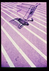 1980 trolley 94, ektachrome, infra red film (francois f swanepoel) Tags: purple trolley infrared infraredfilm