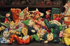 Elves in the House (BKHagar *Kim*) Tags: china old usa japan germany ceramic bright antique pixie collection elf fairy fantasy faery legend day21 elves fairie occupiedjapan somethingold bonechina 30dayphotochallenge bkhagar