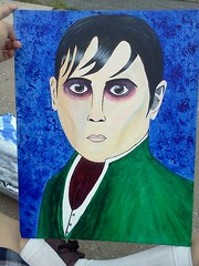 Barnabas Collins (Luz Lenoir) Tags: moon hot sexy art love halloween strange dark painting daddy tim big amazing cool paint acrylic alone different sweet awesome rad emo goth deep like best creepy odd hero johnny beast greatest scared depp attention collins brilliant share barnabas burton xmunecamuertax