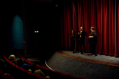Oskar Alegria and Jenny Leask at the Q&A for his film The Search For Emak Bakia