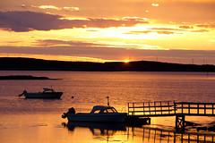 I'm on boat..not really..[Daily Project] (DavGoss) Tags: ocean sunset sea norway photoshop sunrise canon landscape island eos golden boat photo wharf nordland 550d cs5 ti2 sleneset davgoss