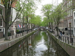 A quiet canal in Amsterdam (Brandon46142) Tags: world city urban holland heritage netherlands dutch amsterdam canon river canal site europe european cloudy euro 5 low capital may nederland saturday unesco countries western nl stad amstel 2012 benelux g9