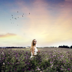 Serenity's Serenade (Sophia Alexis) Tags: alexis flowers light summer portrait sky france colors girl field birds self canon eos 7d sophia