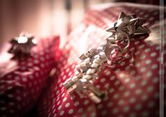 [184/365] Wrapped (Rich Jankowski) Tags: birthday light red canon silver wrapping paper eos star unitedkingdom bokeh foil decorative polka dot 55mm gift spotty bow photoaday gb present ribbon 365 ff polkadot wrappingpaper yabbadabbado ef2470f28lusm canon5dmkii 5d2 2012inphotos