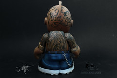 kid_chicano_tattoos_back (yo_commandante) Tags: art tattoo toy vinyl mascot kidrobot mexican custom vato arttoy homie chicano commandante cholo