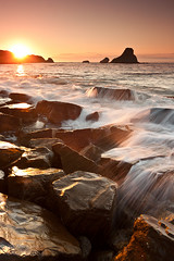 Golden Loia (saki_axat) Tags: sunset sea seascape water coastal hendaye loia canonikos