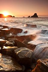 Golden Loia (saki_axat) Tags: sunset sea seascape water coastal hendaye loia canonikos