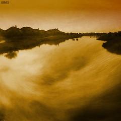 Across The Pond (Two) (Jon-Fū, the写真machine) Tags: orange usa water america canon outdoors pond texas unitedstates walk tx powershot northamerica 散歩 textured texan 2012 水 オレンジ 池 lonestarstate 美國 美国 米国 野外 散策 テキサス 得克萨斯 jonfu sd1300