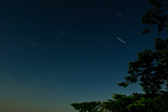 Mermaid Cove Star Trails (Michael Garson) Tags: canada beautiful night dark stars star nikon exposure bc late sunshinecoast startrail