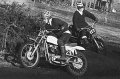 Tweseldown Racecourse 1966 - Dennis Smith & Vic Vaughan (ericmiles47) Tags: smith triumph vaughan bsa tweseldown metisse classicscramble