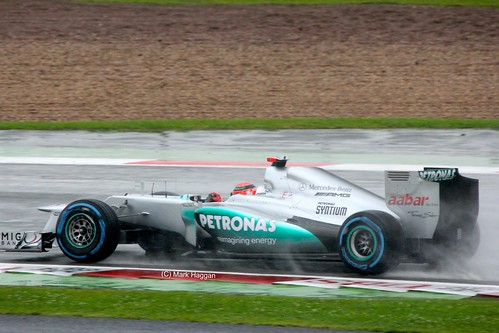 Michael Schumacher's Mercedes at Silverstone