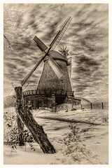 Vlotho - Windmühle in Exter 14 (Daniel Mennerich) Tags: canon dslr eos hdr hdri spiegelreflexkamera slr monochrom monochrome monochromephotography