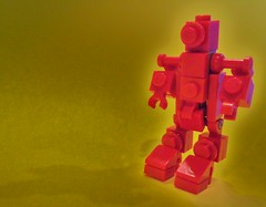 Glowing Red (GreenBeret) Tags: lego space micro bots mecha hardsuit