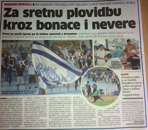Za sretno plovibu kroz bonace i nevere (Novi List, 19.07.2012)