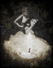 Berceuse (Auteurian) Tags: texture leaves collage photoshop candle statues conceptual composit