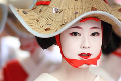 The maiko (apprentice geisha) Katsumi /   / Kyoto, Japan (momoyama) Tags:   canon 7d festival geiko geisha japan kyoto people portrait  85mm asia beautiful beauty costume culture dance ef85mmf18 face flower girl japanese maiko makeup new photo red summer traditional travel woman hat lips eyes white real street photography