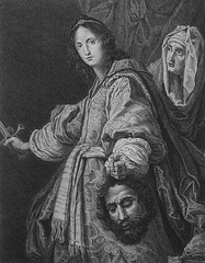 Apocrypha 76. Judith and the head of Holofernes. Judith cap 13 vv 7-10. after Allori. Phillip Medhurst Collection (Phillip Medhurst Bible Prints) Tags: print bibleillustration bible prints apocrypha bibleillustrations boltonmuseum bowyerbible phillipmedhurst