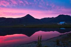 Sumarnótt í Staðarsveit (icecold46) Tags: pink sunset red iceland still snæfellsnes rautt summernight logn sólarlag bleikt staðarsveit sumarnótt vatnsholt