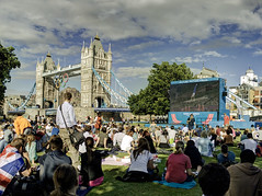 London 2012 August 1st (violinconcertono3) Tags: london towerbridge landscapes flickr fineart cityscapes olympics crowds fineartphotography davidhenderson london2012 londonist bigscreens fineartphotographer londonphotographer 19sixty3 19sixty3com