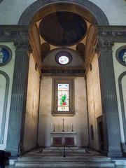 Altar, Filippo Brunelleschi, Pazzi Chapel, Santa Croce, Florence