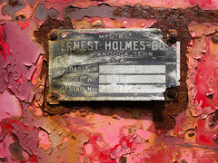 well past ernest (blairware) Tags: pink red abstract metal rust junkyard upclose flaking capacity mcleans blairware ernestholmescompany