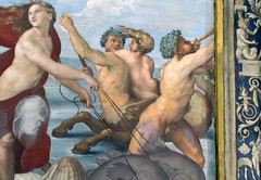 Raphael, Galatea, detail with sea creatures