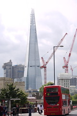 The Shard. (suzymodo) Tags: new bridge england bus london skyscraper coach britain great shard buidling