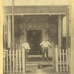 Entrance to Chinese joss house, Cairns, 1896.