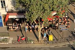 Avenue du Gnral Leclerc - Paris (France) (Meteorry) Tags: morning summer paris france europe terrace pavement terrasse august scooter t viewpoint vue 2012 trottoir matin denfertrochereau meteorry ruefroidevaux froidevaux avenuedugnralleclerc avenuedorlans cafdurendezvous hteldulion
