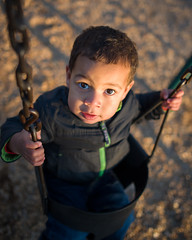 Swing Time (Tony DeFilippo) Tags: sunset playground kid dof child play bokeh swing f18 nikond600 nikon2818gafs