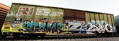 Scamr  LM (Revise_D) Tags: graffiti zee revise graff lm tagging freight revised trainart fr8 bsgk benching scamr fr8heaven revisedesigns revisedesign benchingsteelgiants