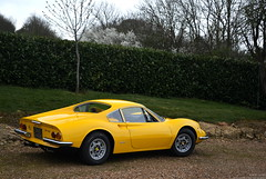 Giallo Dino (Robert DHJ) Tags: old italy classic cars car yellow vintage bedford photography fly italian italia photographer dino bedfordshire automotive super ferrari retro giallo spotted hyper modena vesuvio mid supercar spotting v6 supercars fashioned 246 carspotting engined autoitalia hypercar sharnbrook hypercars