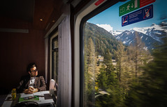 A Train Through Brenner Pass (@Tuomo) Tags: italy mountains train germany landscape austria sony brenner mk2 rx100