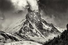 Matterhorn (jankech philippe) Tags: mountain trek canon switzerland matterhorn backandwhite cervin travelphotography philippejankech