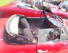 Interior Alfa Romeo 1750 Spider .. (John(cardwellpix)) Tags: uk 1969 corner spider sunday may surrey alfa romeo guildford 8th newlands albury 2016 merrow