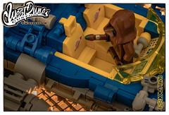 The finishing touches (Priovit70) Tags: blue starwars lego landspeeder jawas tatooine customizing minifigures classicspace lightbluishgray olympuspenepl7 westdunecustoms