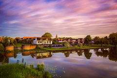Asperen, the Netherlands at an early morning (PhotoSolutions | pure photography) Tags: longexposure blue light sky netherlands colors clouds colorful le d800 nohdr asperen