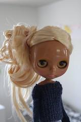 Svea (the Northlings) Tags: blue fashion hair sweater doll factory handmade tan knit blond blythe beachbum surfergirl