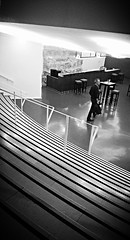 Thtre d'Arras (Panafloma) Tags: bw bar escalier marches tabourets thtrearras