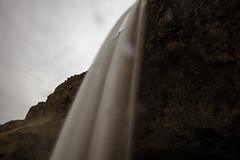 Walking closer (aerojad) Tags: longexposure travel nature landscape waterfall iceland cloudy dreary wanderlust southcoast seljalandsfoss daytimelongexposure thesouthcoast iceland2016